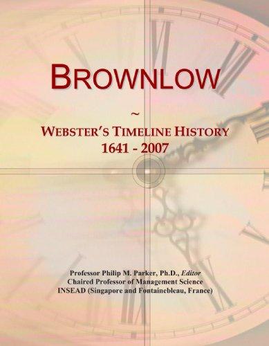 Brownlow: Webster's Timeline History, 1641 - 2007
