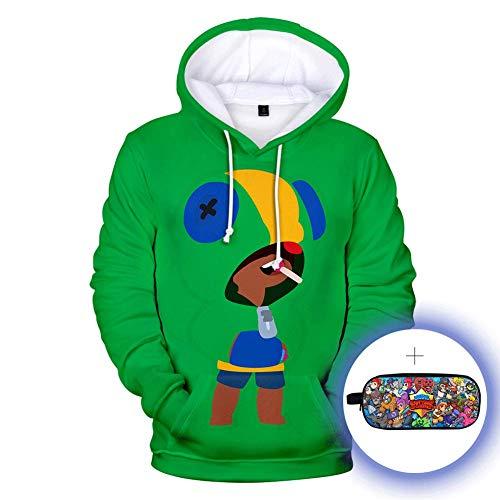 puerhki Hoodie Lässiger 3D-Druck Herbst und Winter Kinder Sweatshirt Ein Star Sweatshirt