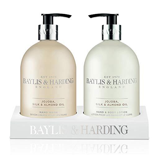 Baylis & Harding Set Regalo Mano Lavata e Lozione per il Corpo Jojoba Seta e Olio di Mandorle - 500 ml
