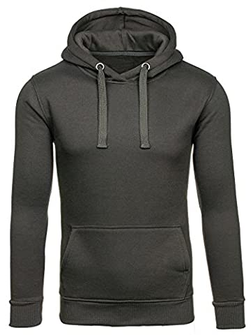 BOLF Men's Hoodie Sweatshirt J.STYLE 2009 Graphite XL [1A1]