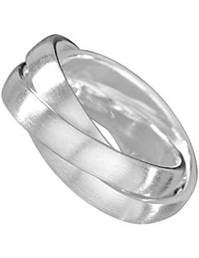 Vinani 3er Ring mattiert drei Ringe beweglich Sterling Silber 925 Dreierring RSM