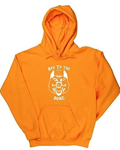 HippoWarehouse - Sweat-shirt à capuche - Homme - Jaune - Small