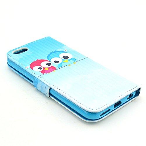 """MOONCASE iPhone 6 Plus Case Motif Conception Coque en Cuir Portefeuille Housse de Protection Étui à rabat Case pour iPhone 6 Plus (5.5"""") P45"""