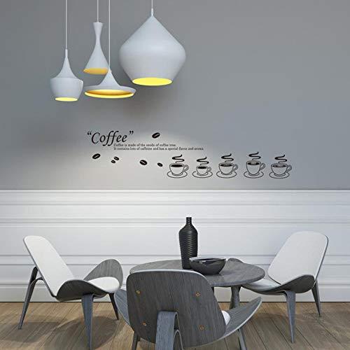 LQRRHY Kaffee Glas Wohnzimmer Küche Folie Aufkleber Großhandel abnehmbare Custom