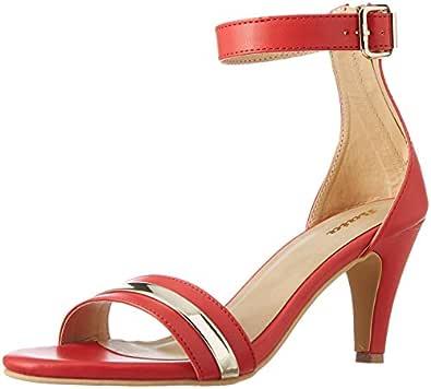 BATA Women's Caillat Red Fashion Sandals-3 UK/India (36 EU)(7615025)