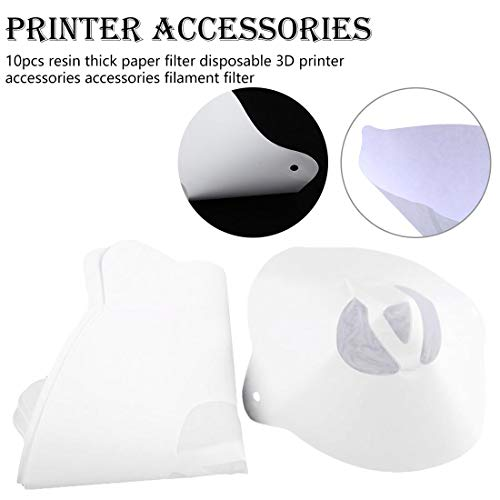 10 unids resin thick paper disposable filter 3D printer accessories accessories filament filter