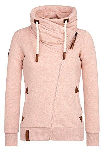 Naketano Female Zipped Jacket Jedi Path Pastel Pink Melange, XL