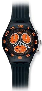 Swatch YMB4000 - Reloj de mujer de cuarzo, correa de goma color negro de Swatch