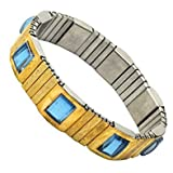 #10: Maxeon Magnetic Original Metal Men Flexible Magnetic Bracelet - MXE-Magnetic-Bp-Belt-Men (Golden)