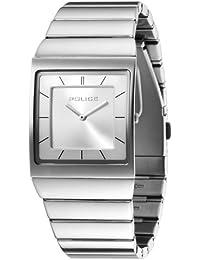 Police Skyline M P12669MS-04M - Reloj de caballero de cuarzo, correa de acero inoxidable color plata