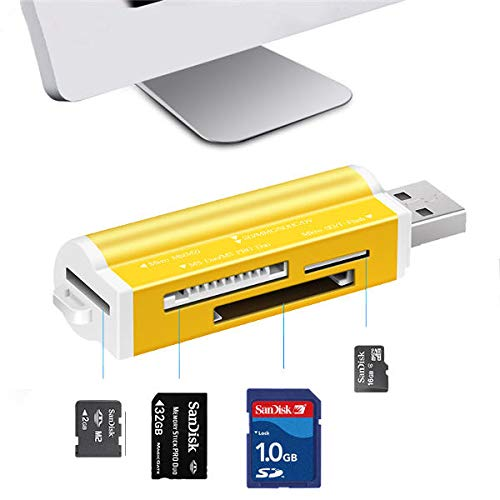 Color Card Drucker Usb (K8U150 @FATO All in One USB 2.0 MS Duo MS Pro Micro SD MS T-Flash High Speed   Kartenleser)