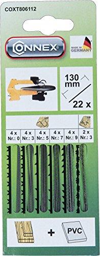 Connex COXT806112 Maschinen-Laubsägeblatt Holz/Kunststoff, 22 Stück