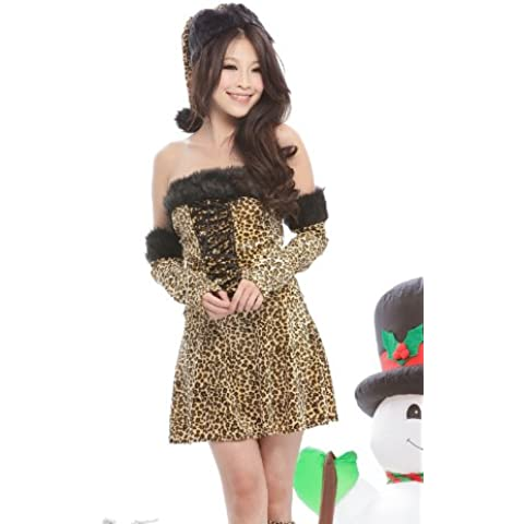 [Cowley] Natale Costume leopardo mini stampa gonna costume Santa [biancheria] [costume play] (japan import)