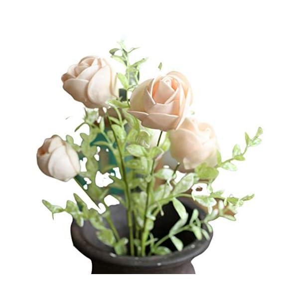 sal008ly7far 1 Unid Flores Artificiales Camelia Artificial Flor De Flor Jardín De Su Casa Decoración De Banquete De Boda…