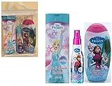 Disney Frozen Geschenk Set - 2-in-1 Shampoo und Spülung, Schaumbad, Haar Entwirren Spray / Haarkur ohne Ausspülen