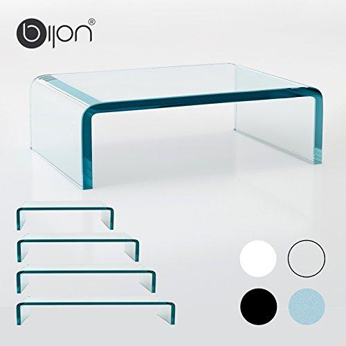 fernseh erhoehung glasshop24 bijon® TV Glasaufsatz Monitorerhöhung (B/T/H) 350x250x110mm - klar