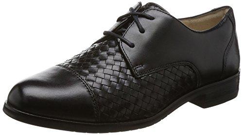 Cole Haan Damen Schnürhalbschuhe Black Leather 40 EU C, Schwarz - Schwarz - Größe: 38