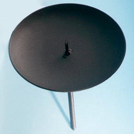 Adventskerzenhalter Schwarz | Metall | Ø: 10 cm | Liefermenge = 6 | Kerzenhalter | Adventskranz | Advent | Kerzen | Halterung