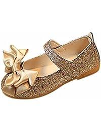 buy popular 990bf 95b80 SOMESUN Girl Leather Single Shoes Dance Shoes, bambini di Modo della  Ragazza della Principessa Bowknot