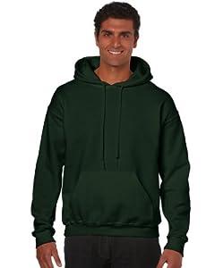 Gildan Heavy Blend Erwachsenen Kapuzen-Sweatshirt 18500, Forest Green, S