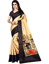 Leriya Fashion Women's Bhagalpuri Silk Printed Saree With Blouse Piece Material
