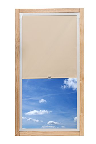 K-home 98-003 Dachfensterrollo Individuell, Stoff, Beige, 96 x 130 cm (B x L) (Plissee-vorhänge 84)