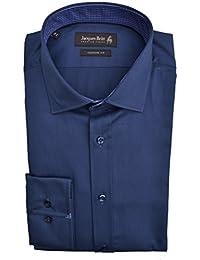 Jacques Britt Hemd John Mix EL extra langer Arm Custom Fit Blau Größe 41