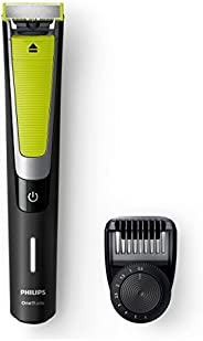 Philips OneBlade Pro Shaver & Trimmer, Black/Lime Green/Silver, QP6505/23. 2 years warr