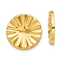 14ct Yellow Gold Polished Sunburst Earrings Jackets Jewelry Gifts for Women