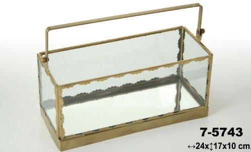 DonRegaloWeb - Caja de cristal y metal color bronce