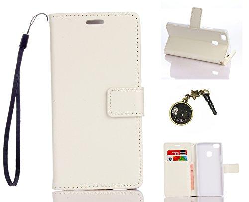 Preisvergleich Produktbild für Smartphone P9 Lite Hülle,Hochwertige Kunst-Leder-Hülle mit Magnetverschluss Flip Cover Tasche Leder [Kartenfächer] Schutzhülle Lederbrieftasche Executive Design +Staubstecker (1DD)