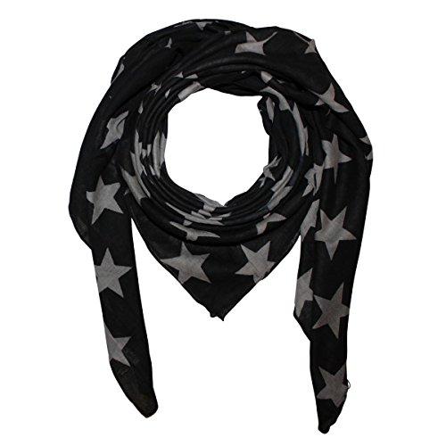 b2dca7104dda98 Superfreak® Baumwolltuch mit Sterne Muster - Tuch - Schal - 100x100 cm - 100 %