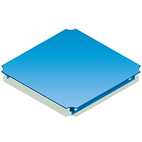 QUADRO Platte 40x40 cm blau