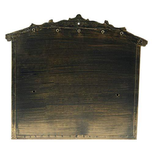 PrimeMatik – Briefkasten Postkasten Retro Antik Vintage Gusseisen Schwarze Oxid für wallmount Pferd - 4