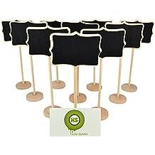 Bcony Irregolare in legno Mini lavagna Lavagnette messaggi Wordpad per numero tavolo per feste e matrimoni segnaposto/impostazione decorazione natalizia, set da