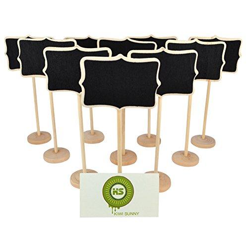 Bcony Irregulär Mini Tafel Kreidetafeln Holz WordPad Nachricht Board Halter mit Ständer für Party Hochzeit Tisch Nummer/Tischkarte Einstellung Dekoration,Set von 10