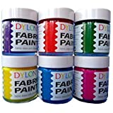 Dylon Fabric Paint Set - Funky - 6 x 25ml
