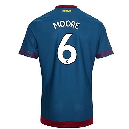 2018-2019 West Ham Away Football Soccer T-Shirt Camiseta (Bobby Moore 6)