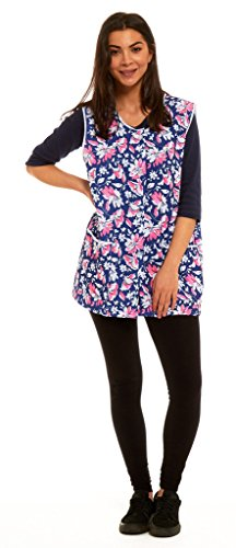 ladies-tabard-overall-gingham-dogtooth-big-check-floral-buttoned-apron-domestic-cleaning-cafe-wear