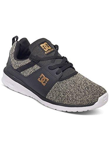 DC Shoes Heathrow Se J, Baskets Basses femme BLACK DARK USED