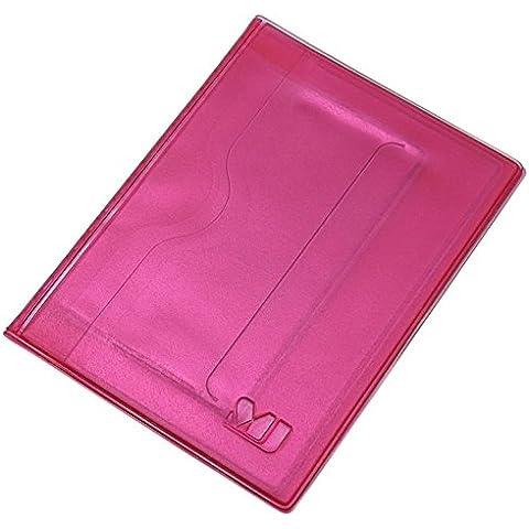 Porta carte d'identità e carte di credito 10 tasche MJ-Design-Germany Made in UE in diversi (Rosa Piccolo Stock)