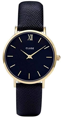 Cluse Damen Armbanduhr Analog Quarz Leder CL30014