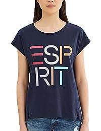 ESPRIT 027ee1k060, Camiseta para Mujer, Multicolor (Navy), 40 (Talla del Fabricante: Large)