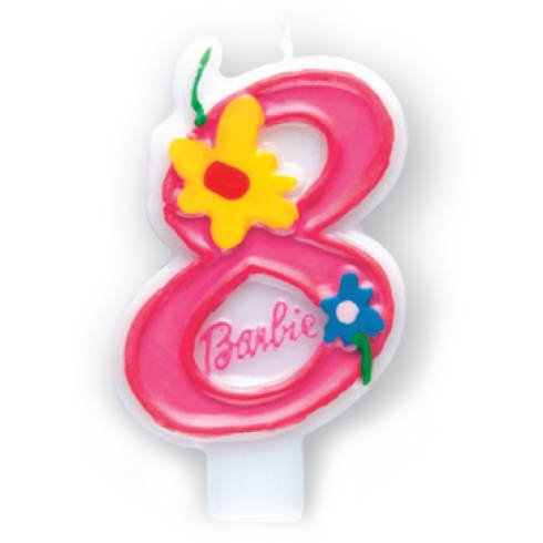 Procos 7482 - Teelicht Zahlwort Barbie Pink Zahl 8, Pink (Birthday Dekorationen Barbie Party)