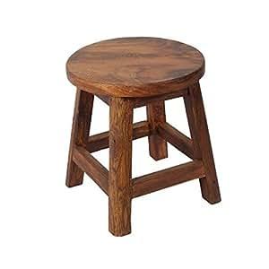 Tabouret bas de table bistrot country pieds droits - 45 cm