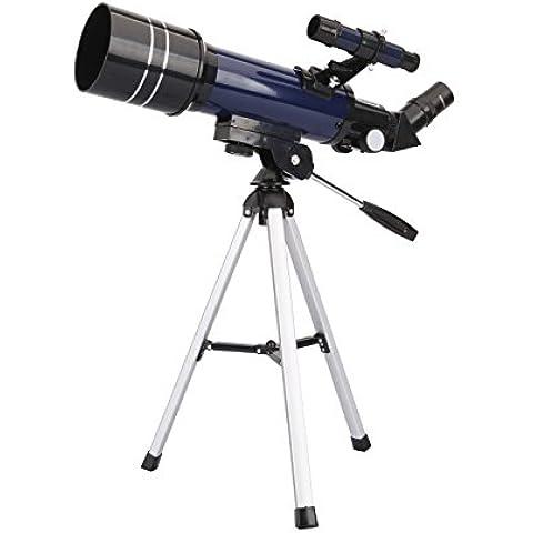 Geertop Telescopio refractor astronómico de alta calidad ultra claro con trípode y buscador, 400x70mm, para astrónomos principiantes y adolescentes