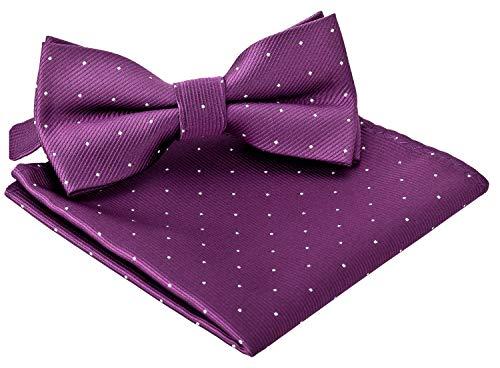 BomGuard Fliege für Herren weinrot I Männer Fliege für Hochzeit, Party oder edele Anlässe I Trendy Bow Tie I Gold Bow Tie