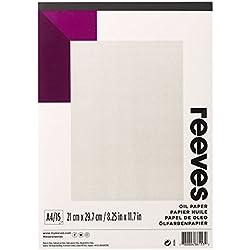 Reeves - Papel para óleo A4 - Blanco