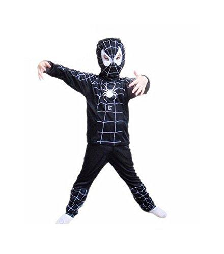 DS (GR. 92 - 110) KOSTÜM HELLOWEEN FASCHING *SPIDERMAN SCHWARZ - GR. 92* -3 TEILE- SHIRT HOSE (Schwarz Kostüme Spiderman)