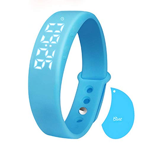 LRWEY Fitness Armband mit Pulsmesser, W5 Schrittzähler Schlaf Monitor Temperatur Armband Smart Watch mit iOS Android